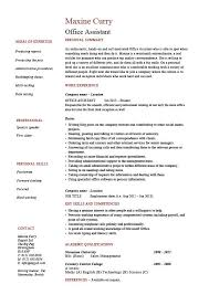 Office Assistant Resume Administration Example Sample References