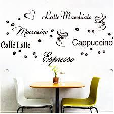 wandora wandtattoo kaffee sorten i braun i herz kaffeetasse kaffeebohnen küche esszimmer sticker aufkleber wandaufkleber wandsticker g006