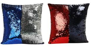 Mermaid Shimmer Sequin Throw Pillows for just $3 15 reg $14 99