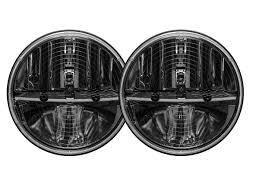 100 Truck Lite Rigid Industries Heated 7 Round LED Headlight Kit Black