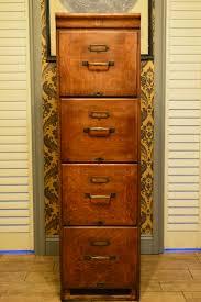 Antique Vintage Oak Filing Cabinet Kenrick and Jefferson made
