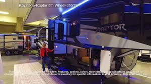 Raptor 5th Wheel Toy Hauler Floor Plans by Keystone Raptor 5th Wheel 355ts Youtube