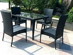 Lovely Glass Patio Table Set And Medium Size Of