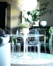 Clear Dining Table With Ghost Chairs Room Plastic Australia