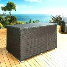 Outdoor Patio Storage Bench Waterproof Pillow Cushion