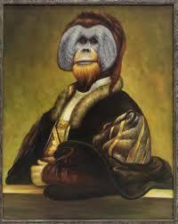 Maitland Smith Buffet Lamps by Framed Maitland Smith Oil Painting Orangutan Lot 0258 Art