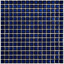 Home Depot Merola Penny Tile by Merola Tile Hudson Edge Blue Eye 12 3 8 In X 12 3 8 In X 6 Mm