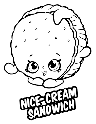 Nice Cream Sandwich Coloring Page Season 6 Shopkins