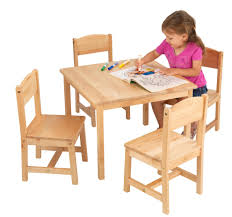 Dining Set: Childs Wooden Desk And Chair Set | Tween Table ...