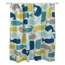 Whale Shower Curtain Amparo Blue Pillowfort™ Tar