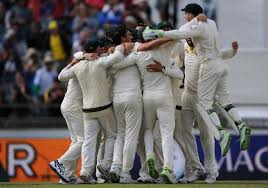 Australian Players Celebrate Taking The Ashes Series After Bowling England Out Cheaply Despite Rain Delays And