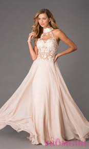 corset style high neck gown dave and johnny prom dress