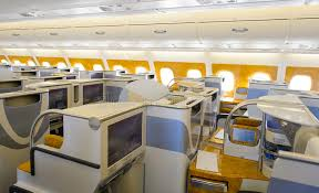 Emirates Airbus A380 Business Class Interior Editorial