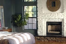 Painting Our Faux Stone Fireplace Little Green Notebook
