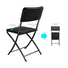 2PCS Outdoor Patio Folding Chair Indoor Dining Garden Party Beach Camping  Stool Patio Furniture