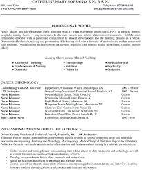 Instructor Resume Original Sample Nursing In College Teacher Examples Australia
