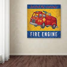 100 Fire Truck Wall Art Trademark Fine 24 In X 24 In Engine By Stephanie