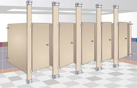 Floor Mounted Urinal Screen by Bradmar Partitions Bradley Corporation