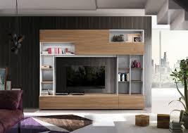 moderne wohnwand skandinavia mit viel stauraum und trendiger