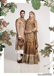 Fashions Addres Off White Color Outfits Embellished With Copper Brown Shade Embroidery Perfect For Bride Groom