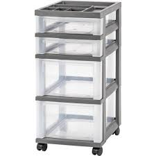 Sterilite 4 Shelf Utility Storage Cabinet White by Plastic Utility Carts Garage Storage The Home Depot