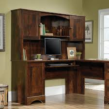 Ameriwood Desk And Hutch In Cherry by Sauder Harbor View L Shaped Hutch Curado Cherry Finish Walmart Com