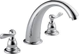 Delta Linden Faucet Stainless by Delta Windemere Double Handle Deck Mount Roman Tub Faucet Trim