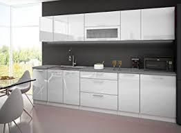 cuisine complete cuisine complete 3m laquee blanc avec plan de travail amazon fr