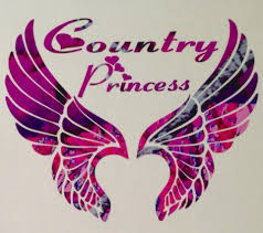 Pink Camo Wings Country Princess Truck Decal 5