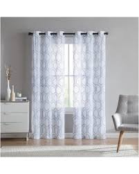 Blue Sheer Curtains 96 by Christmas Shopping Sales On Vcny Home Empire Embroidered Sheer