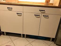 ikea faktum küchenunterschränke mit schublade weiß