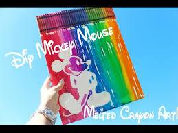 Disney Melted Crayon Art