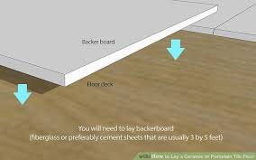 how to lay a ceramic or porcelain tile floor with pictures