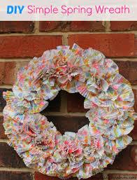 Simple Spring Wreath Craft