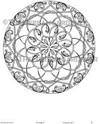 Descarga Inmediata De Página Para Colorear De Mandala 21 De Etsy