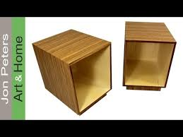 cool mid century modern end tables how to use wood veneer youtube