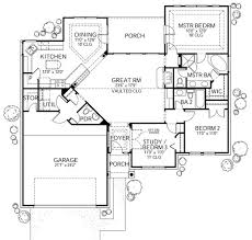3 Bedroom Ranch Floor Plans Colors Traditional Style House Plan 3 Beds 2 5 Baths 1561 Sq Ft Plan