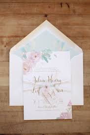 Just My Type Wedding Invitation Stationery Design NZ Romantic Pastel Watercolour Floral Silver Fern