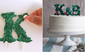 Rustic Paper Monogram Cake Topper Via Design Sponge