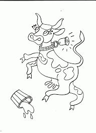 Coloriage Vache Folle Concernant Coloriage Vache Rigolote