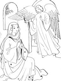 Angel Appears To Mary And Joseph Tell Them About Birth Of Jesus Coloring Pages