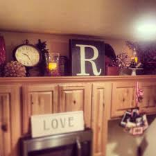 Above Cabinet Kitchen Decor Crafty Mally Decorating Simple Decorate