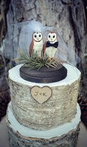 Owl Wedding Cake Topper Bride Groom Rustic Woodland Animal Bird Custom Mrand Mrs Barn Lover Just Married Snow Hoot Western