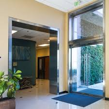 Stainless steel door frame casings entry ways for office or lab