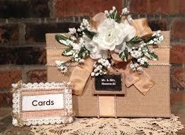 Burlap Wedding Card Box Money Rustic Gift