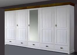 massivholz kleiderschrank 5türig kiefer massiv 2farbig weiß honig schlafzimmer