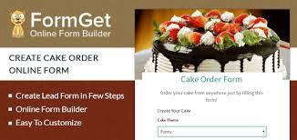 FormGet Create Cake Order Form For Bakeries & Cake Shops