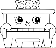 Piano Man Shopkins Coloring Page