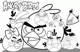 Angry Birds Coloring Pages For Free Kids Colouring 142041