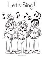 Lets Sing Coloring Page